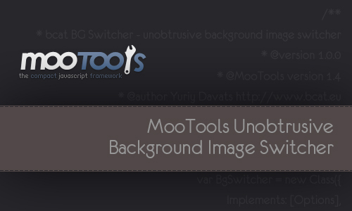 MooTools Unobtrusive Background Image Switcher