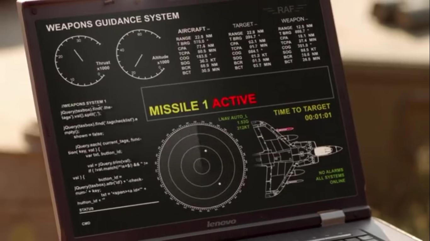 jQuery Missile Guidance System